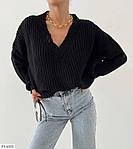 Женский свитер с v-образным вырезом машинной вязки, 42-46, белый, фиалка, олива, черный, фото 3