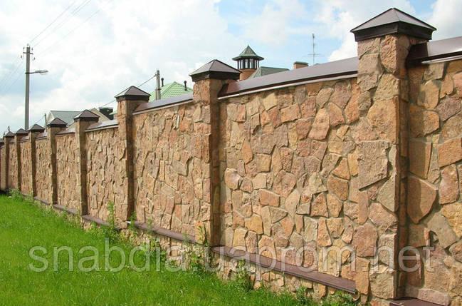 Забор из бутового камня, фото 2