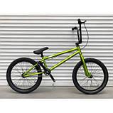 Трюкових велосипедів TopRider ВМХ-5 20 дюймів велосипед для трюків bmx хакі, фото 2