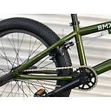 Трюкових велосипедів TopRider ВМХ-5 20 дюймів велосипед для трюків bmx хакі, фото 4