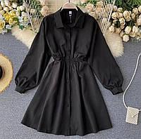 Розкльошені літнє плаття-сорочка з довгими рукавами