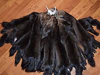 Шкуры соболя баргузинского темного с сединой, выделанные, шубные наборы