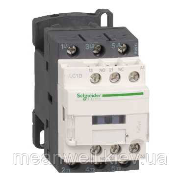 LC1D09B7 Контактор Schneider Electric 3Р, 9A, 4кВт/400VAC, 1NO+1NC, 24VAC 50Гц