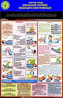 Стенд по охране труда «Оказание первой медицинской помощи. Ожоги, отравления, обморожения»