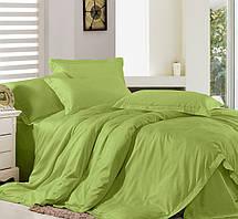 Комплект постельного белья Сатин Премиум Салатовый