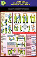 Стенд по охране труда «Оказание первой медицинской помощи. Перенос пострадавших»