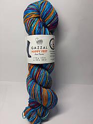 Пряжа для вязания носочная Happy feet Gazzal (75% шерсть)