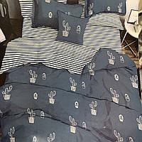 """""""кактус"""" Комплект постельного белья полуторный 150/210 см, нав-ки 70/70, ткань бязь, 100% состоит из хлопка"""