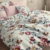 """""""цветы"""" комплект постельного белья полуторный 150/210 см, нав-ки 70/70, ткань бязь, 100% состоит из хлопка"""