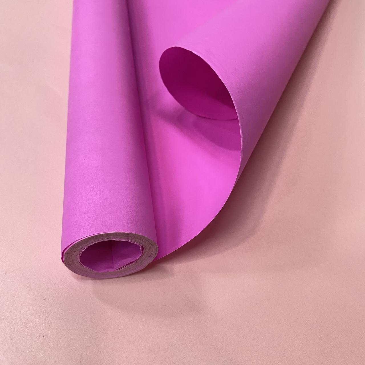 Папір для пакування в рулоні яскраво рожева 8 м