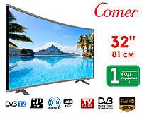 """Телевизор COMER 32"""" Smart HD.Телевизор 32 дюйма.Телевизор изогнутый COMER 32"""" Smart HD"""