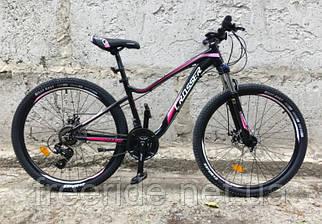 """Підлітковий Велосипед Crosser P-6-2 Mary 24"""" (13) чорно-рожевий"""