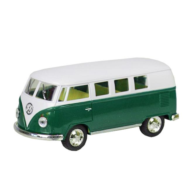 Машинка металлическая Kinsmart КТ5060W Volkswagen BUS (Бело-зеленый)