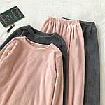 Женская пижама, двухсторонняя махра, р-р 42-44; 44-46 (пудра), фото 4