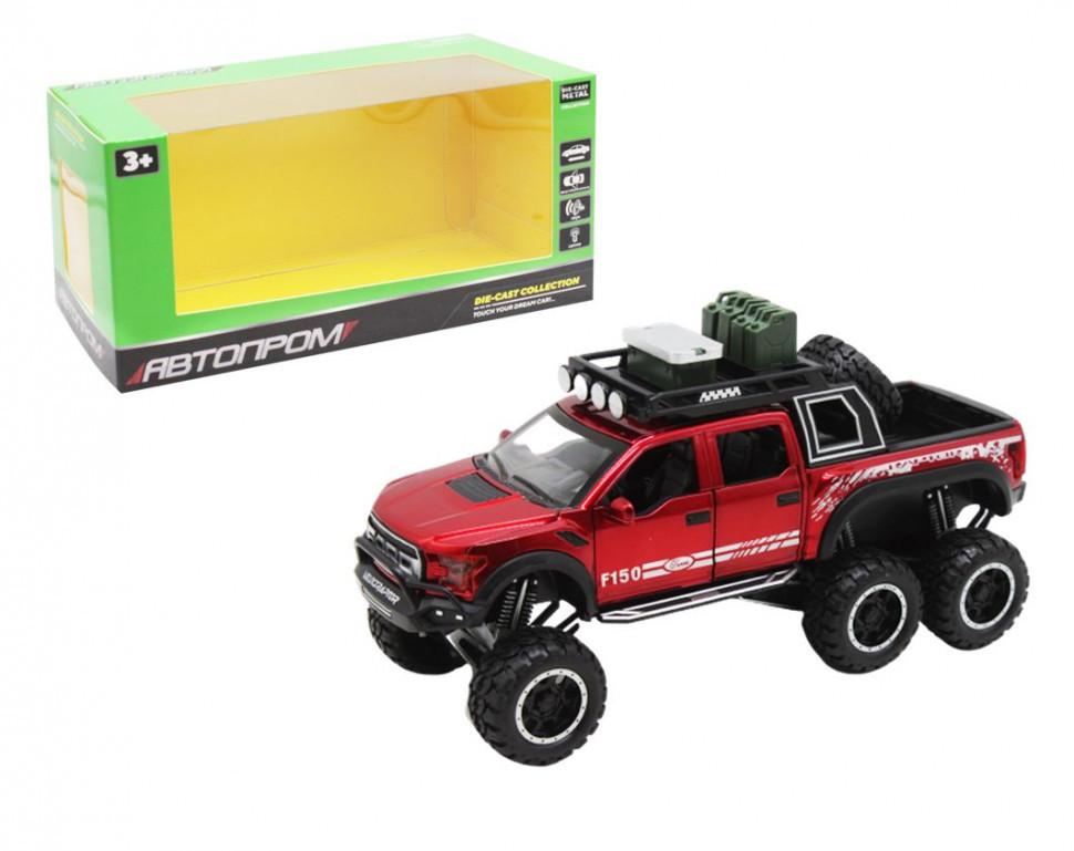 """Іграшкова машинка Ford F150 """"АВТОПРОМ"""" 7682 інерційна (Червоний)"""