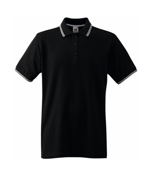 Мужская футболка поло черная 032-KW