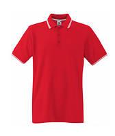 Мужская футболка поло красная 032-RW