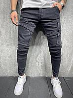 Модные мужские черные джинсы, Мужские джинсовые штаны джогеры Турция весна осень