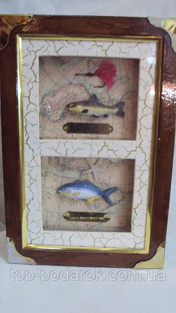 Ключница настенная деревянная «Большой улов» размер 25*18*7