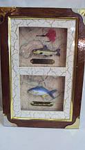 Ключниця настінна дерев'яна «Великий улов» розмір 25*18*7