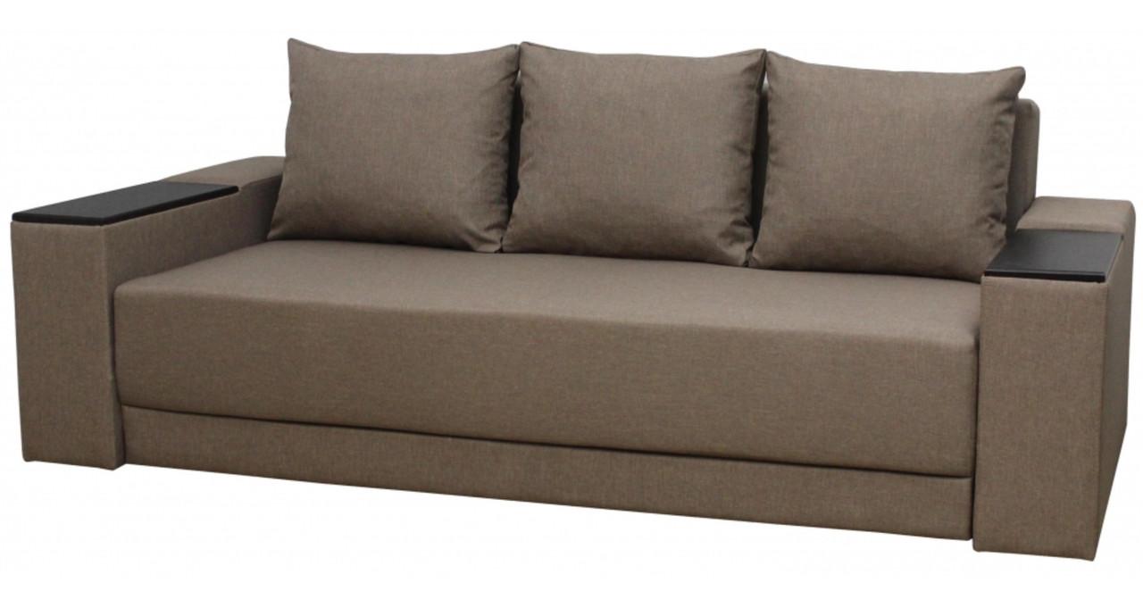 Диван Еврокнижка с подушками 2450х1050 мм Меркурий+ (Аляска02)