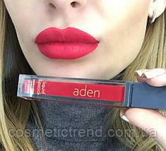 Помада для губ жидкая суперустойчивая матовая Aden Liquid Lipstick 09 Strawberry 8,4 gr Италия Оригинал!, фото 2