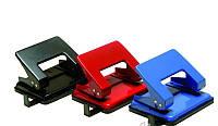 Дырокол 4OFFICE, 15л., 8см, цвета в ассортименте, металлический, 4-301