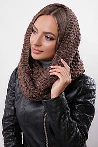 Зимовий в'язаний снуд/хомут/шарф Torio, коричневий