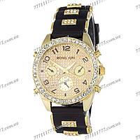 Часы женские наручные Майкл Корс Crystals Silicone Bracelet Black-Gold
