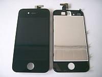 Дисплей (экран) Apple iPhone 4s, черный, с рамкой, с сенсорным стеклом