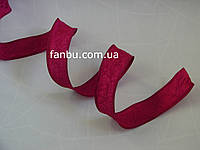 Жатая лента для бантов с проволочным краем,цвет темно-красный(ширина 4 см)
