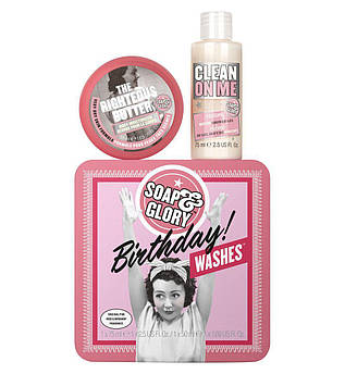 Подарунковий набір косметики для тіла Soap & Glory Birthday Wishes Body Gift Set 75 мл + 50 мл