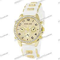 Часы женские наручные Майкл Корс Crystals Silicone Bracelet White-Gold