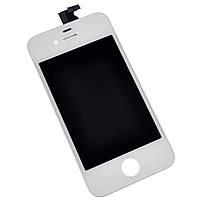 Дисплей (экран) Apple iPhone 4s, белый, с рамкой, с сенсорным стеклом