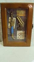 Ключница настенная деревянная размер 25*18*7
