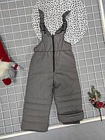 Детские зимние штаны полукомбинезон для мальчика р 86-116