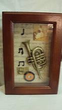 Ключница настенная деревянная «Муза» размер 25*18*7