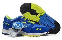 """Женские кроссовки Asics Gel Lyte III """"Azul Verde""""  синие"""