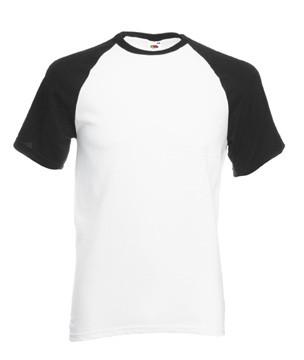 Мужская футболка хлопок белая с черными рукавами 026-TH