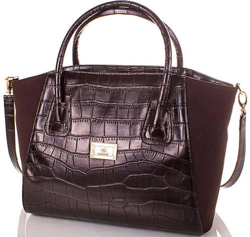 Качественная женская сумка из экокожи и натуральной замши Europe Mob, EM0047-10