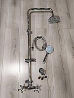 Дождевая душевая панель для ванной комнаты с двухвентильным смесителем. БЕСПЛАТНАЯ ДОСТАВКА!