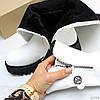 Эффектные удобные белые зимние высокие женские сапоги ботфорты, фото 4