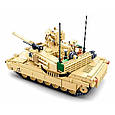 Конструктор Танк Abrams M1A2 армии США Sluban M38-B0892, 781 деталь, фото 6