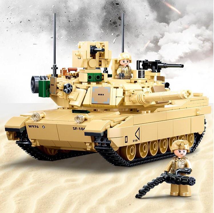 Конструктор Танк Abrams M1A2 армии США Sluban M38-B0892, 781 деталь