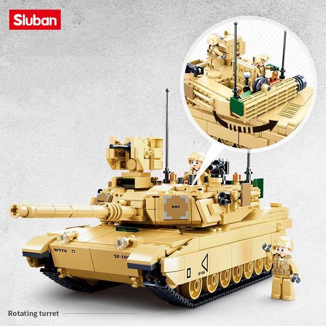 Конструктор Танк Abrams M1A2 армии США -Sluban M38-B0892, 781 деталь