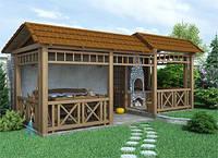 Установка декоративных элементов: пергола, навес, мостик, беседка, керамические изделия