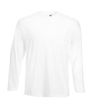 Мужская легкая футболка с длинным рукавом белая 428-30
