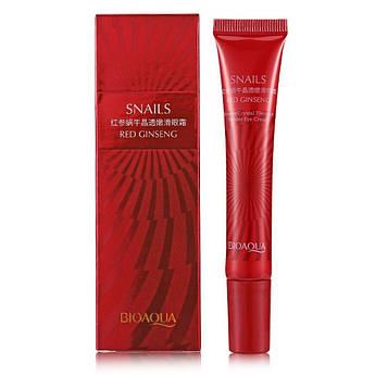 Сыворотка-крем для кожи вокруг глаз с экстрактом улитки и женьшеня BIOAQUA Snails Red Ginseng Eye Cream 20 мл