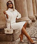 Трикотажний білий теплий костюм з спідницею Туреччина люкс, фото 2