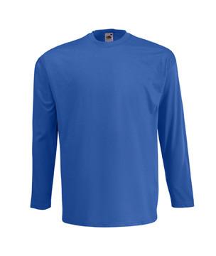 Чоловіча легка футболка з довгим рукавом синя 428-51